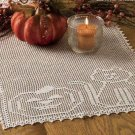 X361 Filet Crochet PATTERN ONLY Happy Cat & Pumpkin Table Runner Halloween