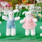 W001 Crochet PATTERN ONLY Family of Little Easter Bunnies Rabbit Doll Patterns