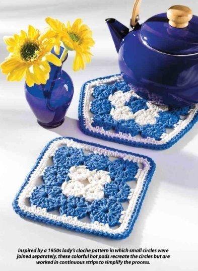 W345 Crochet PATTERN ONLY 2 Yo-Yo Hot Pads Hotpads Patterns