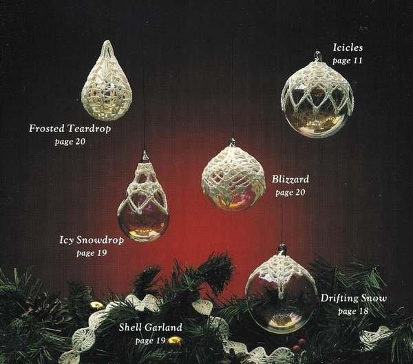 X459 Crochet PATTERN Book ONLY Snowflakes Angels Bells 32 Ornament Yuletide Treasures