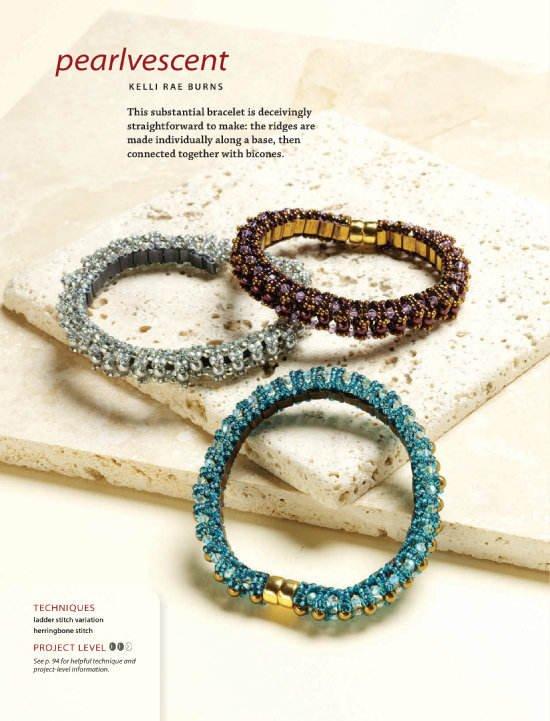 W109 Bead PATTERN ONLY Beaded Pearlescent Bracelet Pattern