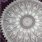 W056 Crochet PATTERN ONLY Silver Anniversary Pineapple Doily Pattern