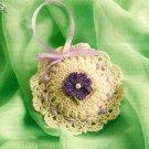 Y657 Crochet PATTERN ONLY Crochet Violet Sachet Pattern