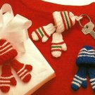 X278 Crochet PATTERN ONLY Tiny Crochet Hats & Mittens Ornament Pattern
