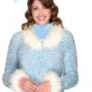 Y882 Crochet PATTERN ONLY Ladies Winter Fantasy Furry Jacket Pattern