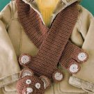 Y844 Crochet PATTERN ONLY Cuddly Bear Scarf Pattern