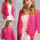 W339 Crochet PATTERN ONLY Ladies Convertible Cardigan Sweater Pattern