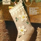 X689 Crochet PATTERN ONLY Snowflake Christmas Stocking Pattern