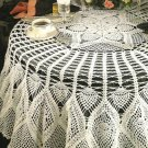 Y071 Crochet PATTERN ONLY Pineapple Star Tablecloth Pattern