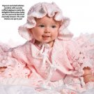 W050 Crochet PATTERN ONLY Cherry Blossom Baby Blanket Sweater Bonnet Pattern