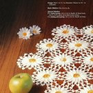 X863 Crochet PATTERN ONLY 3 Doily Pattern Daisies, Roses & Quilt Square Motifs