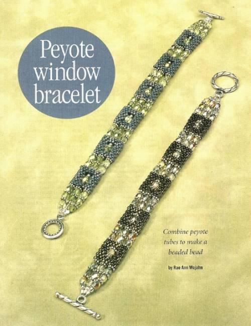 Y634 Bead PATTERN ONLY Beaded Peyote Stitch Window Bracelet Pattern