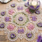 W210 Crochet PATTERN ONLY Lacy Mariposa Floral Doily Pattern Butterfly