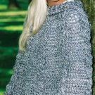 W192 Crochet PATTERN ONLY Textured Cable Poncho Pattern