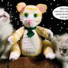 W189 Crochet PATTERN ONLY Tobi the Tabby Cat Toy Doll Pattern