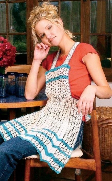 W168 Crochet PATTERN ONLY Vintage Style Apron Pattern