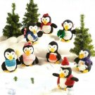 Y321 Crochet PATTERN ONLY 8 Perky Penguins Christmas Doll Toy Patterns