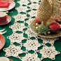 Y913 Crochet PATTERN ONLY Snowflake Christmas Holiday Table Runner Pattern