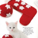 X111 Crochet PATTERN ONLY Golden Ball Ornaments, Kitty Toy and Stocking Patterns