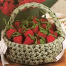 X125 Crochet PATTERN ONLY Summer Strawberries and Basket Pattern