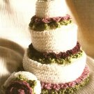 Y030 Crochet PATTERN ONLY Miniature Wedding Cake Favor Ornament
