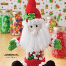 Y914 Crochet PATTERN ONLY Santa Jar Cover Christmas Pattern