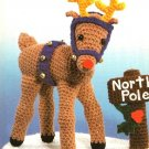 X485 Crochet PATTERN ONLY Rudolph Reindeer Christmas Ornament Toy Pattern