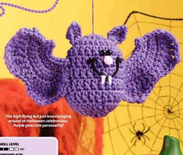 Y807 Crochet PATTERN ONLY County Batty Halloween Toy Doll Pattern