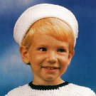 Y080 Crochet PATTERN ONLY Quick & Easy Sailor Hat for Kids