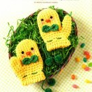 Y476 Crochet PATTERN ONLY Little Peeps Mittens Baby Easter Chick Pattern