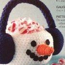 X884 Crochet PATTERN ONLY Snowman Basket & Little Girl Curly Hat Pattern