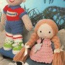 X962 Crochet PATTERN ONLY Debbie & Dickie Dolls Toys Boy Girl