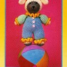 X771 Crochet PATTERN ONLY Funny Face Lamb Clown Toy Doll Pattern
