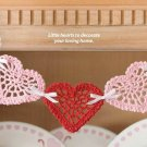 W114 Crochet PATTERN ONLY Valentine Heart Swag Pattern