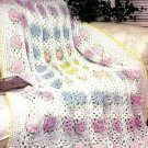 W092 Crochet PATTERN ONLY Field of Flowers Afghan Pattern