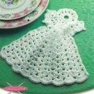 X836 Crochet PATTERN ONLY Angel Dishcloth Pattern Christmas