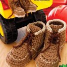 Y901 Crochet PATTERN ONLY Mom Dad & Kids Workboot Slipper Patterns