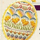 Y668 Cross Stitch PATTERN ONLY Baby Chicks Easter Egg Ornament Pattern Chart