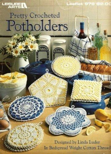 Y411 Crochet PATTERN Book ONLY Pretty Crocheted Potholders Thread Crochet