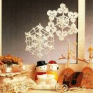 X457 Crochet PATTERN ONLY 2 Snowflake Ornaments Pattern