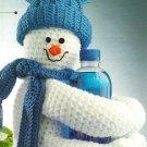 X882 Crochet PATTERN ONLY Snowman Bottle Huggie Toy Pattern