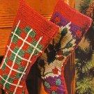 X661 Crochet PATTERN ONLY 2 Christmas Stocking Pattern Oriental & Tartan