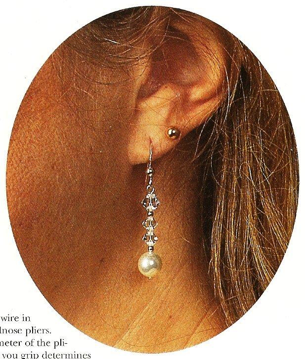 Y327 Bead PATTERN ONLY Beaded Winter Solstice Earrings Pattern