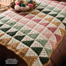 Y035 Crochet PATTERN ONLY Half-Square Granny Afghan Throw