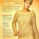 X442 Crochet PATTERN ONLY Sophisticated Evening Chic Sweater Pattern