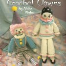 Y051 Crochet PATTERN Book ONLY Two Crochet Clowns Doll by Akiko Abdoo