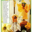 Y040 Crochet PATTERN ONLY Clothespin Angels Daffodil & Daisy Dolls