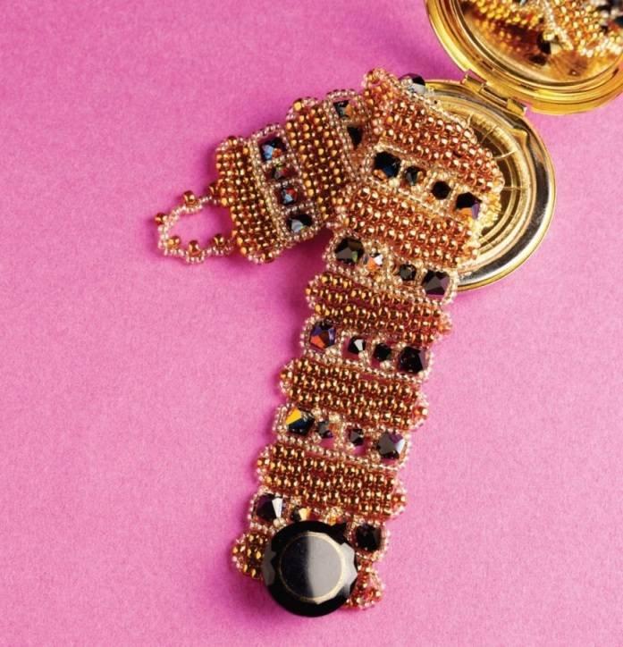 Y504 Bead PATTERN ONLY Bead Noir Bracelet Pattern