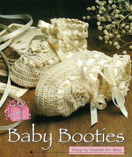 X794 Crochet PATTERN ONLY Elegant Lacy Baby Booties Pattern