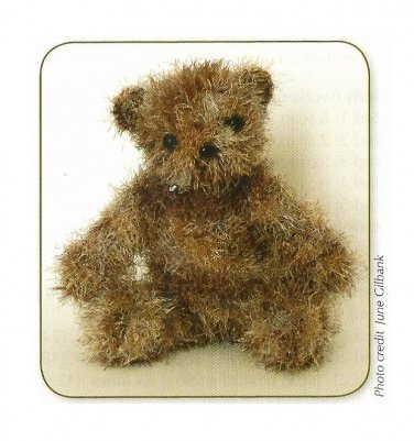 Y753 Crochet PATTERN ONLY Fuzzy Little Teddy Bear Pattern Toy Doll